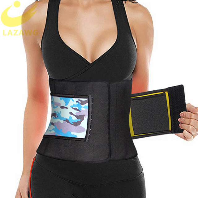LAZAWG Waist Trimmer Waist Trainer for Weight Loss Sweat Belt Belly Fat Slimming Stomach Band Lumbar Support Neoprene Wrap Sets