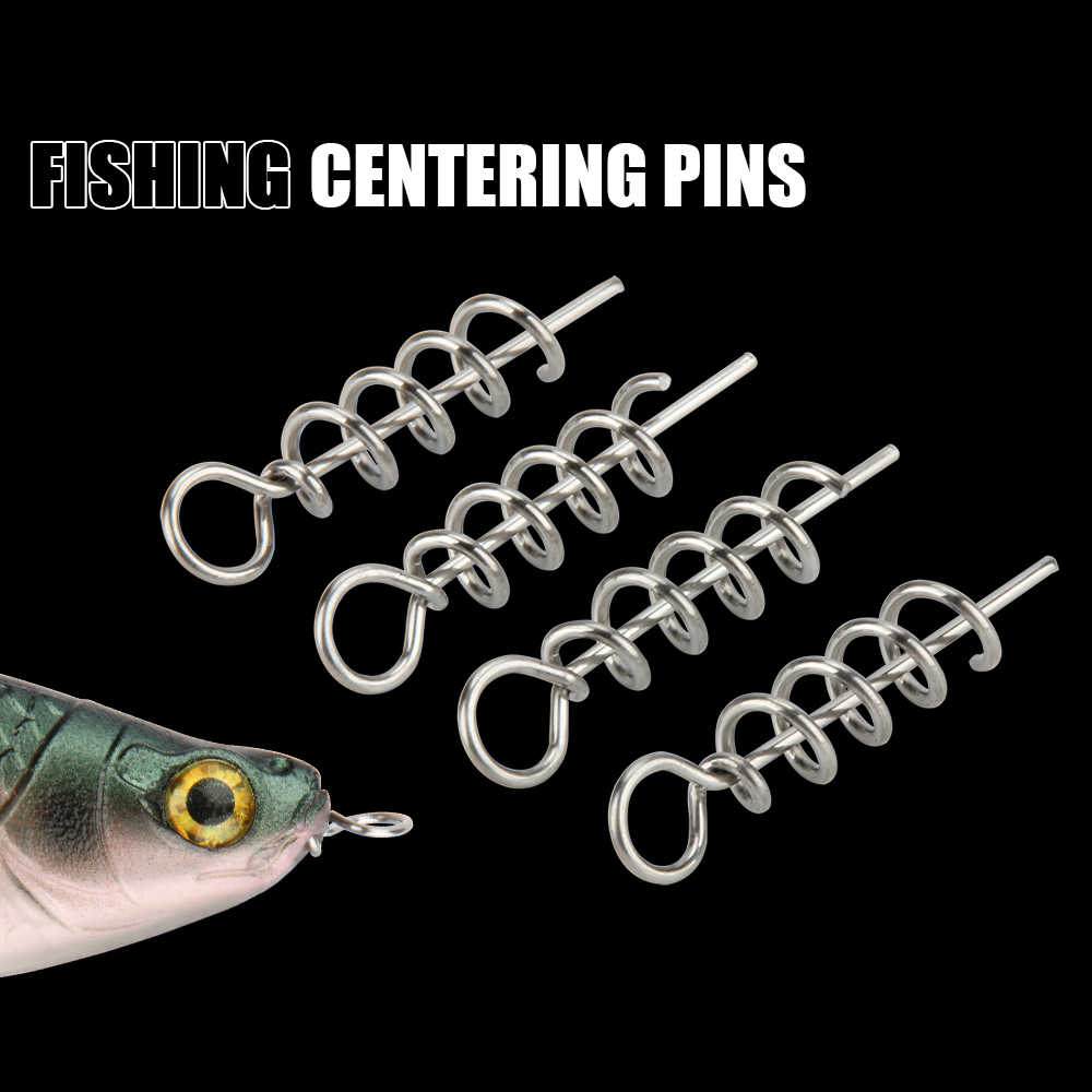 RoseWood 50PcsตกปลาPinsตะขอตกปลาเครื่องมือCentering Pinsคงที่Latchเข็มฤดูใบไม้ผลิTwist LockสำหรับSoft Lure Shad