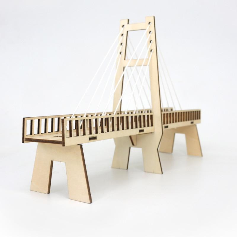 Puente de madera DIY modelo educativo Kit tecnológico