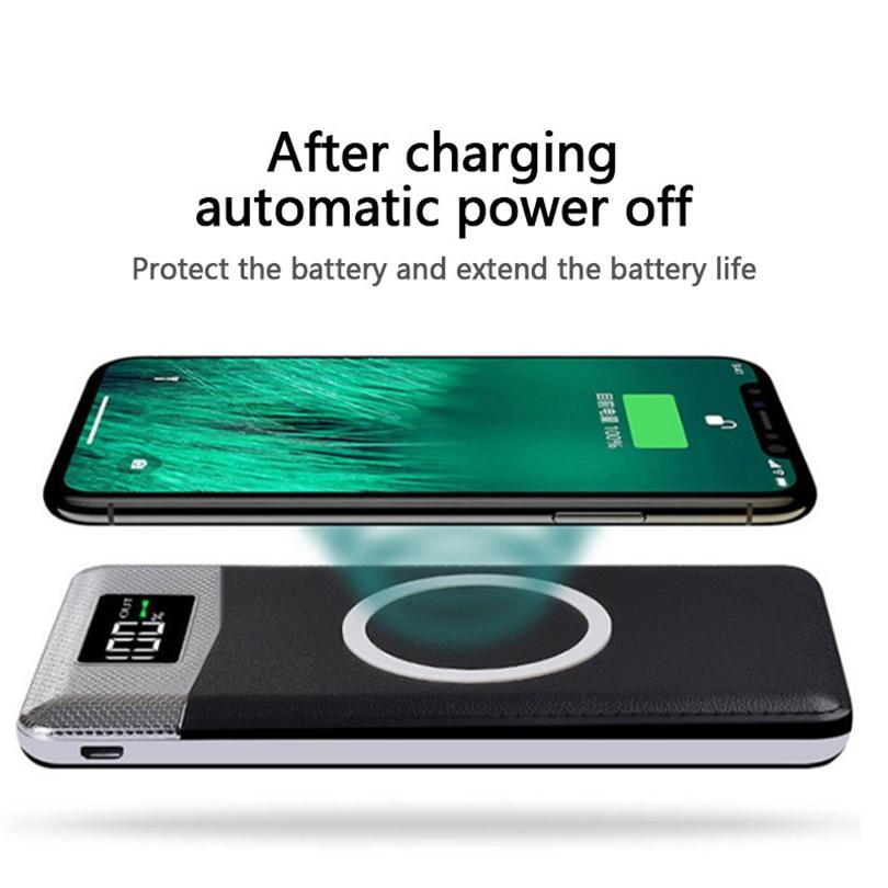チーワイヤレス電源銀行 30000mAh 充電器外部バッテリー Iphone サムスン華為 Xiaomi ワイヤレス充電 Powerbank