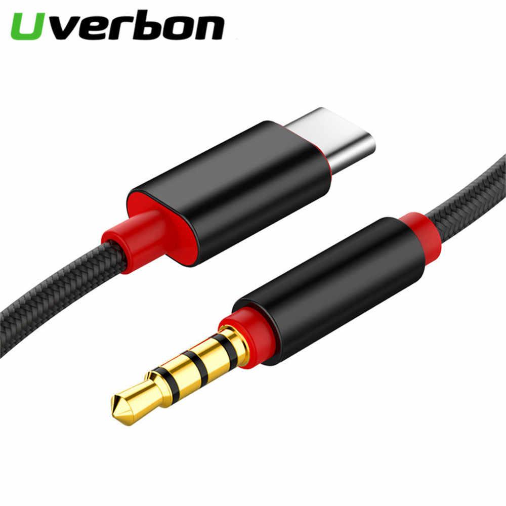 نوع C الصوت كابل يو إس بي نوع-C ذكر إلى 3.5 مللي متر جاك ذكر سيارة AUX محول الصوت USB-C كابل لسامسونج Letv 2 2pro ماكس