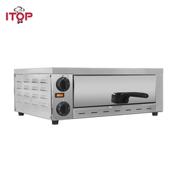 ITOP 220V Electric Pizza Oven With Handle Stainless Steel Commercial Cake Roasted Chicken Pizza Cooker