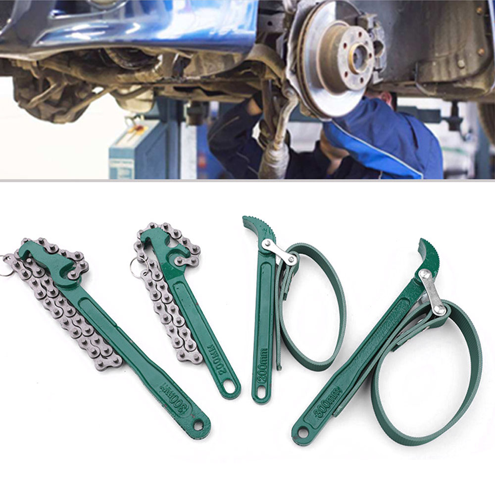 8-12 Inch Oil Filter Belt Chain Wrench Car Engine Box Oil Fuel Filter Wrenchs Spanner Key Removal Hand Tools