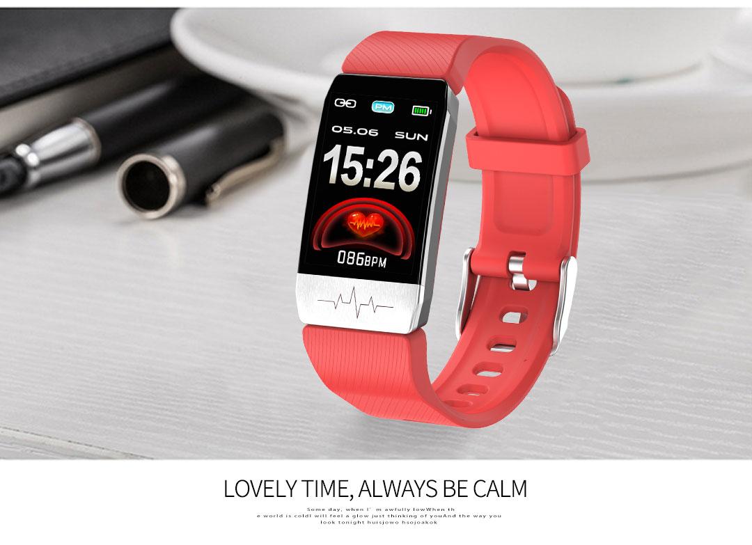 Ecg relógio inteligente monitor de pressão arterial