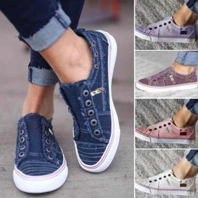 Women Shoes Fashion Women Sneakers Summer Canvas Shoes Woman Trainers Shoes Ladies Flats Basket Femme Tenis Feminino Large Size