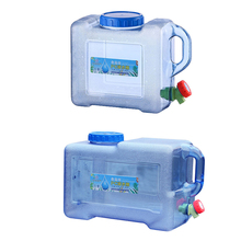 5/8/12L Self-driving Portable Water Tank Container with Faucet Car Driving Camping Hiking PC Thickened Water Bucket Container