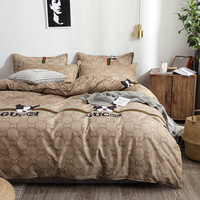 BEST.WENSD New Brown dachshund comforter bed comforter American style Soft Quilt cover sets flat bedspread twin kids bedding set