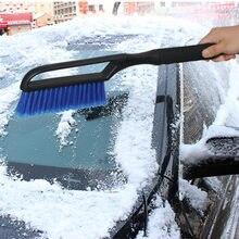 2-em-1 raspador de gelo da neve do veículo do carro com escova para o pára-brisa do carro neve remover a geada vassoura limpador de limpeza da janela auto