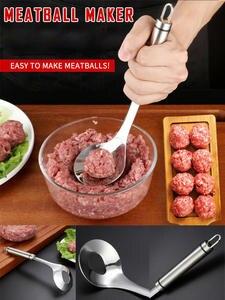 Spoon Gadget Utensil Meatball-Maker Meat-Tool Elliptical-Leakage-Hole Non-Stick Kitchen