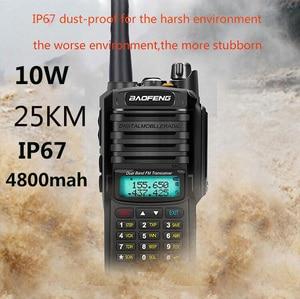 2020 Upgrade uv9r Baofeng UV-9R plus 50km walkie talkie 10W 4800mah two way radio vhf uhf ham radio long range CB radio station(China)