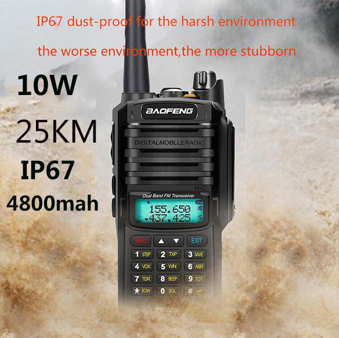 IP68 2020 Upgrade uv9r Baofeng UV-9R plus 50km walkie talkie 10W hf two way radio vhf uhf ham radio long range CB radio station
