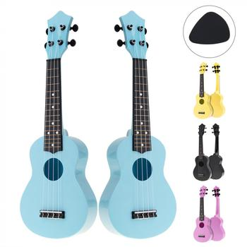 Ukulele Colorful Acoustic 21 Inch Soprano  4 Strings Hawaii Guitar Instrument for Children and Music Beginner hanknn 21 inch ukulele guitar soprano mahogany 4 strings round angle hawaii ukulele guitar ukelele acoustic musical instruments