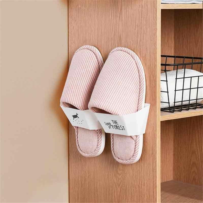 Stojak na buty buty półka organizator wygodne 3D do montażu na ścianie klej półka na buty ścienny wiszące buty organizator wieszak