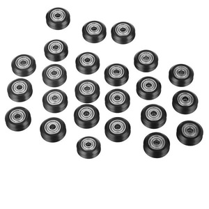 24 шт. ЧПУ пластиковое колесо POM с 625Zz направляющий шкив зубчатое колесо, круглое колесо Perlin колесо для CR10 Ender 3