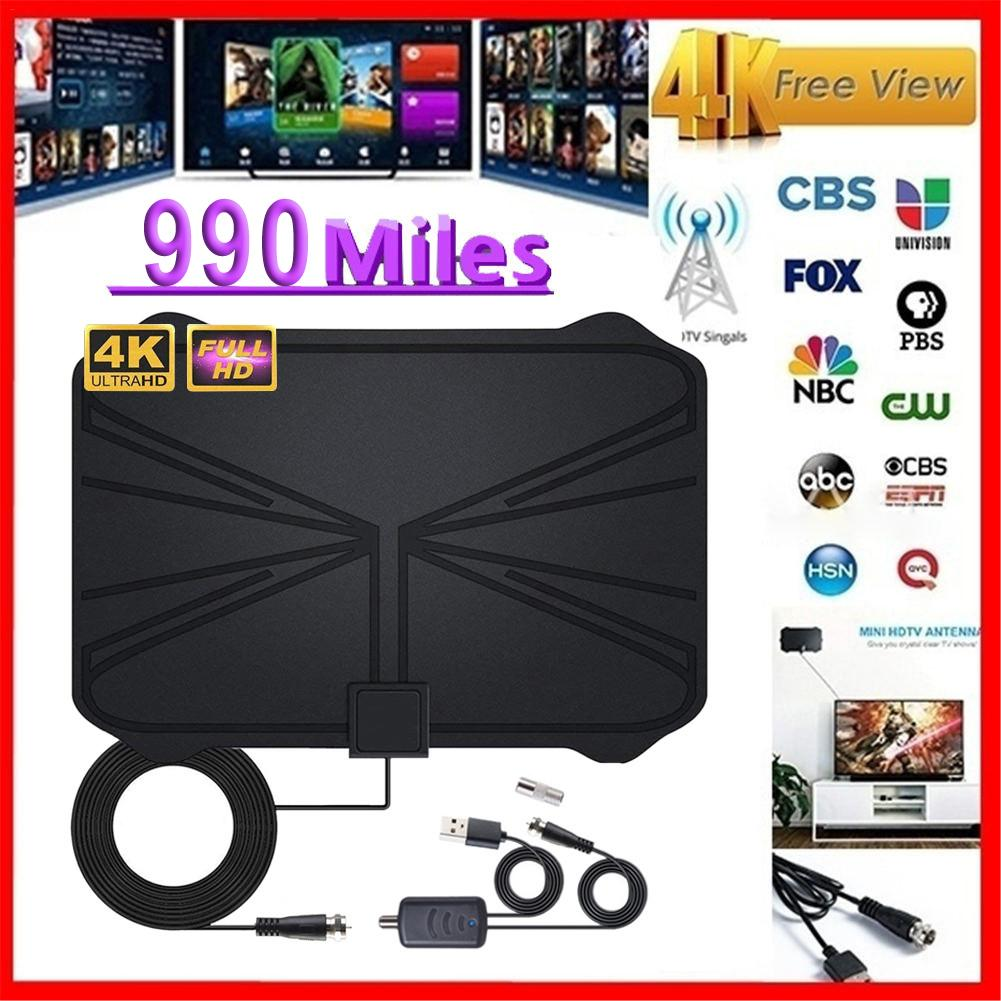 240 Mile HDTV Indoor Antenna Aerial HD Digital TV Signal Amplified Booster Cable