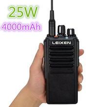 Дальнее расстояние 25 Вт высокая мощность leixen vv walkietalkie