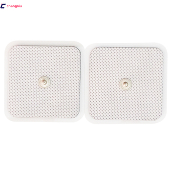 DHL Free Shipping 1000pcs/lot 5*5cm plug 3.5MM Tens Electrode Pads for Slimming Massage Digital Therapy Machine Massager