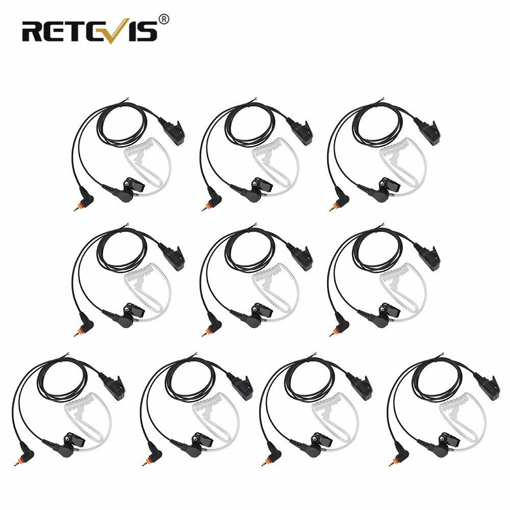 10pcs MIC Speaker PTT Earpiece Earphone Headset For Motorola Radio SL7550 SL4000 SL1K MotoTRBO Ham Radio Walkie Talkie C2235A