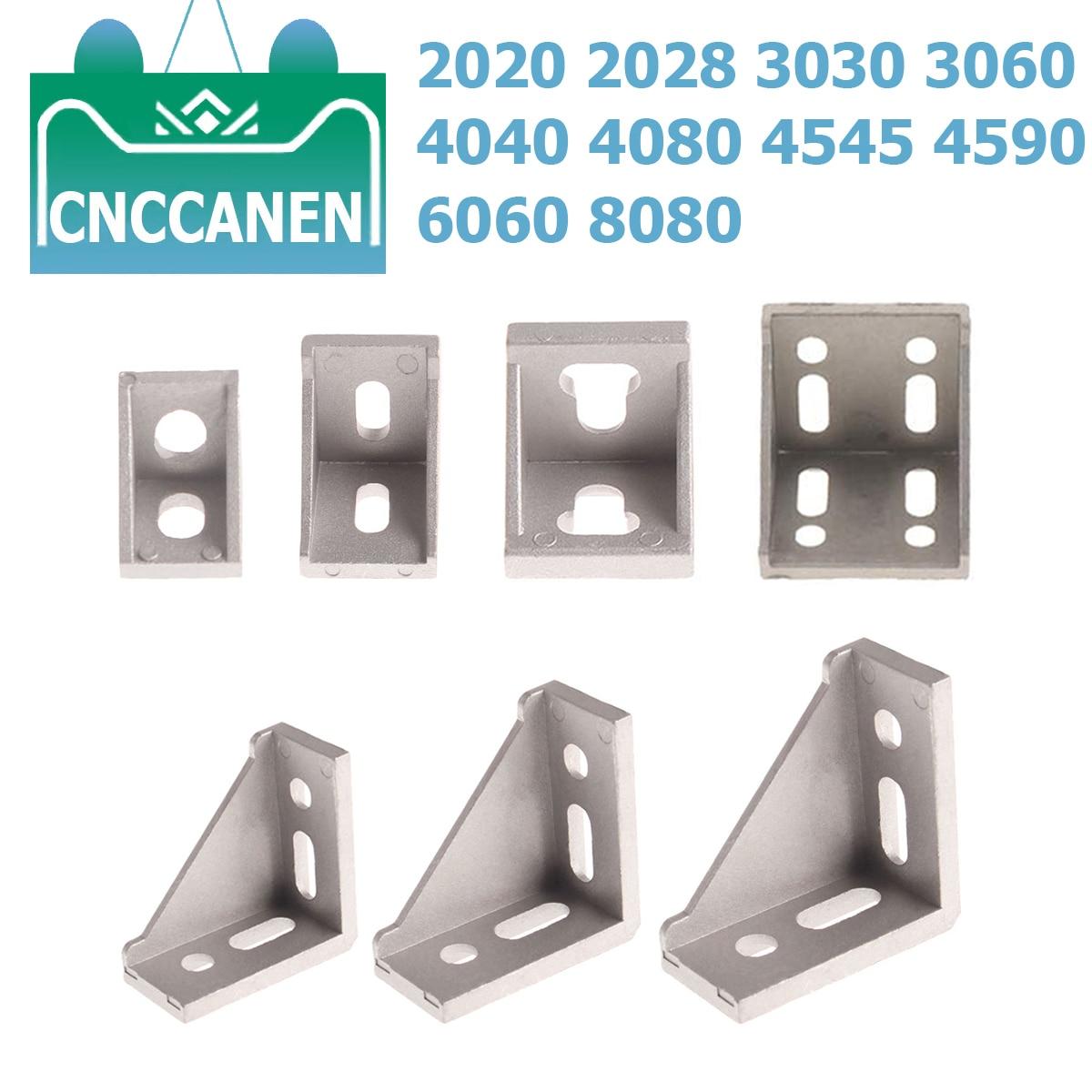 5pcs 3060 corner fitting angle aluminum L type connector bracket fastener