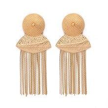 2019 Earing Boucle D'oreille Earings Fashion Jewelry Ohrringe Money Personality Metal Tassels Earrings Small Ornaments Spot metal tassels simple triangular small earrings