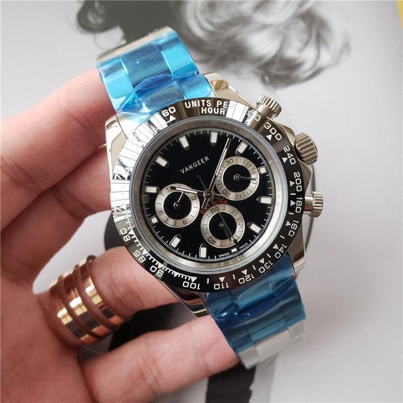 Мужские лучший бренд класса люкс керамический Безель автоматические механические наручные часы AAA Качество rolx_Cosmograph daytona часы подарок для м...