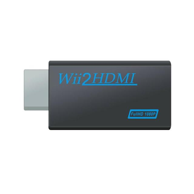 Wii to HDMI Adapter Full HD 1080P 3.5mm Audio Output Jack Converter Adapter Video Converter Supports WII Game Console Input
