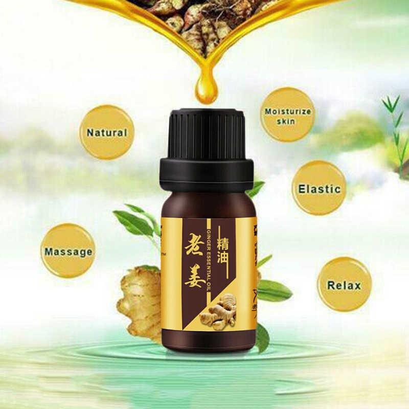 10 ミリリットル強力な効果生姜抗セルライトエッセンシャルオイル全身ボディラップ痩身脂肪バーナーゲル体重減少エッセンシャルオイルオイル TSLM1