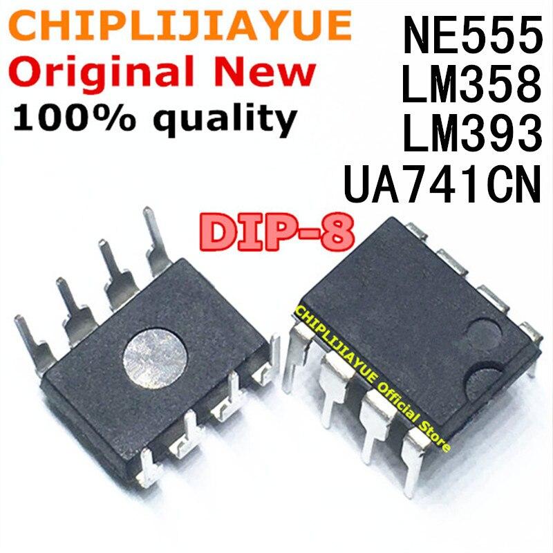 20 шт UA741 LM324 LM393 LM339 NE555 LM358 DIP LM358N LM324N LM339N LM393N NE555P UA741CN DIP8 DIP14 усилителя Новый IC