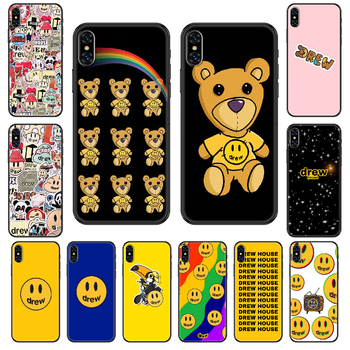 Justin Bieber drew Phone case For iphone 4 4s 5 5S SE 5C 6 6S 7 8 plus X XS XR 11 PRO MAX 2020 black silicone coque tpu cover 3D image