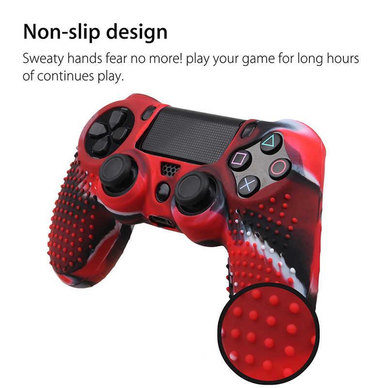 التمويه سيليكون المطاط الجلد غطاء مقبض حالة ل PS4 بلاي ستيشن 4 تحكم 7.09x4.33 بوصة 1 قطعة