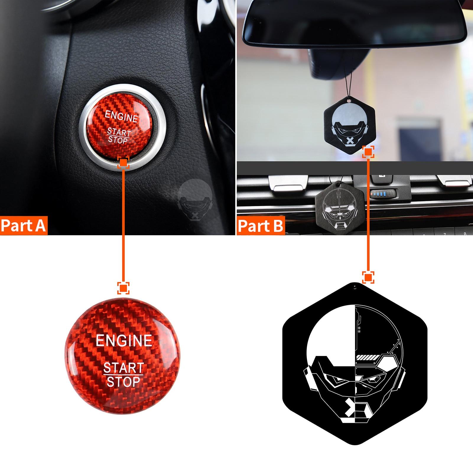 Karbon fiber araba motor çalıştırma durdurma anahtarı düğmesi etiket ateşleme Sticker Mercedes Benz A B C W205 GLC X253 AMG E ML GLE