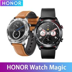Image 1 - Huawei Honor שעון קסם עמיד למים GPS NFC עבודה 7 ימים הודעה תזכורת לב קצב גשש שינה Tracker 1.2 אינץ מסך