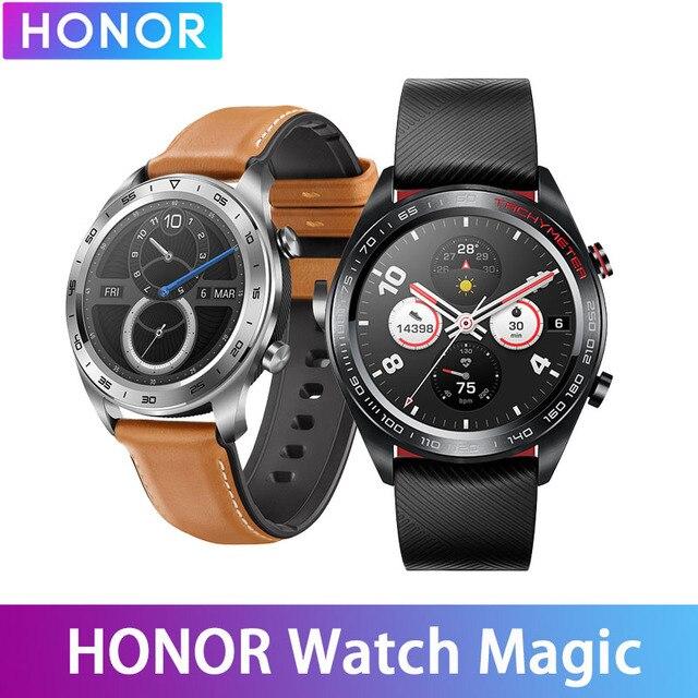 Huawei Honor montre magique étanche GPS NFC travail 7 jours Message rappel fréquence cardiaque Tracker sommeil Tracker 1.2 pouces écran