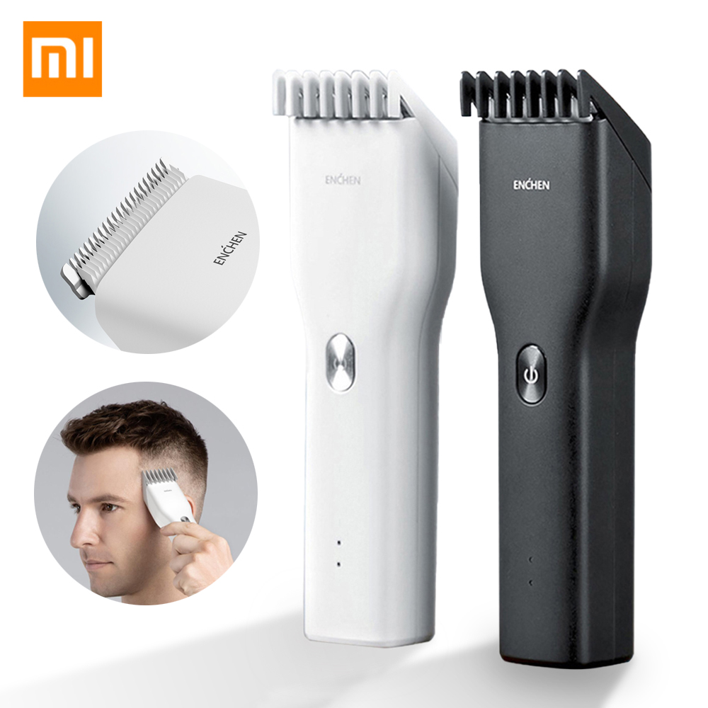 Xiaomi ENCHEN Men's Electric Hair Clippers Boost Cordless Adult Razors Professional Trimmers Corner Razor USB Rechargeable