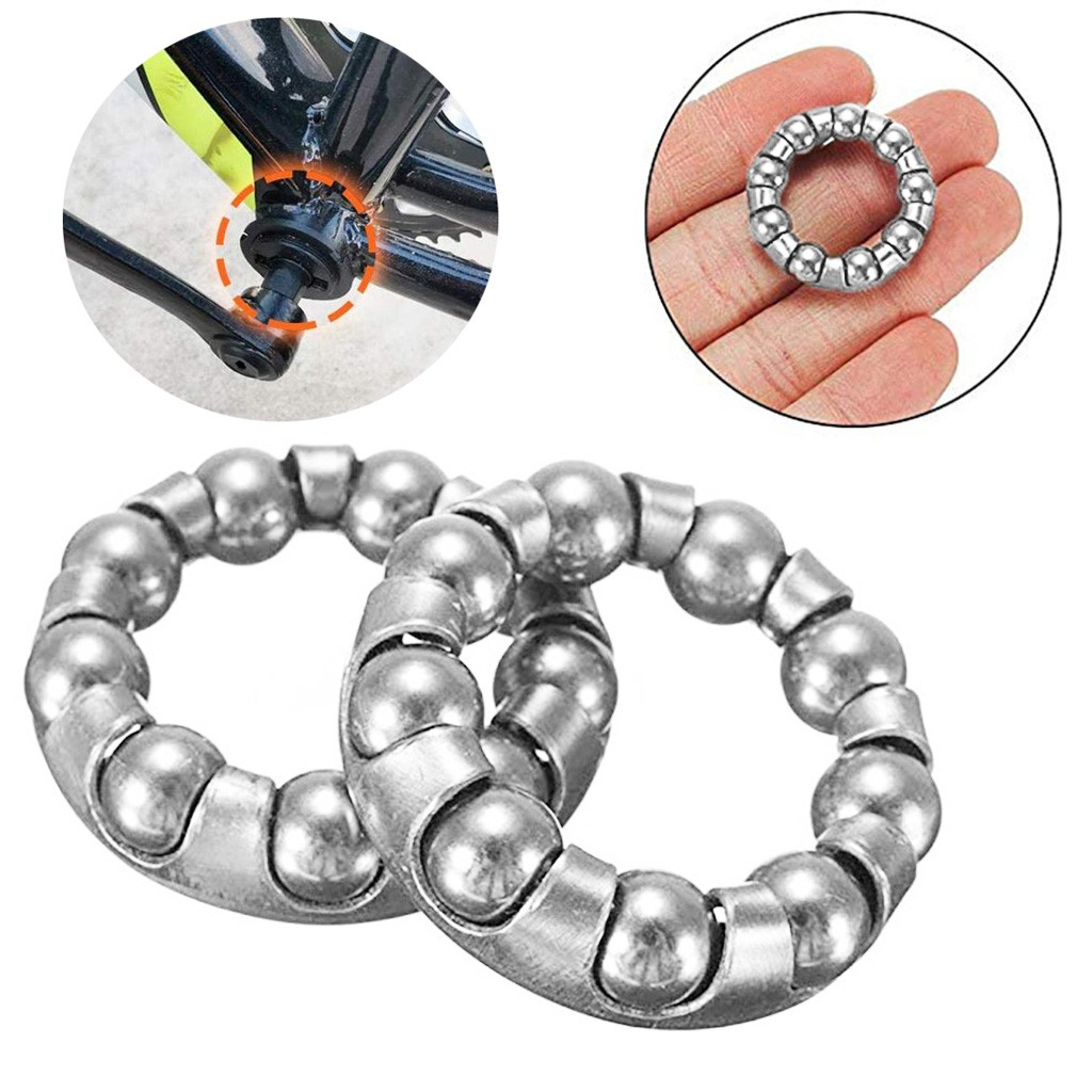 10 Pcs Bike Ball Bearing Retainer Replacement Mountain Bike Parts Repair Accessories Bike Bottom Bracket Rear Bearing Ju4