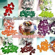 Glass Mosaic-Tiles Art-Craft-Materials DIY 100g Irregular-Shape Mixed-Color Approx.-60-70pcs