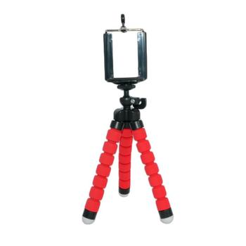 Tripod Stand Holder Mini Flexible Sponge Octopus For Gopro 8 7 5 Camera For IPhone Samsung Xiaomi Huawei Mobile Phone Smartphone alloyseed mini flexible sponge octopus tripod portable phone camera holder bracket for gopro camera dslr mount