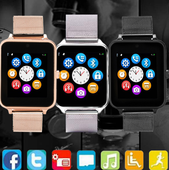 Z60 smart watch metal steel with card call Bluetooth smart watch with wheat audio cable
