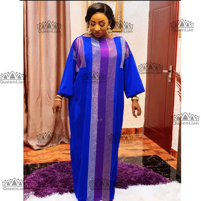 2020 New African Oversize Cotton With Diamond Dress  Length 140cm Wide 115cm