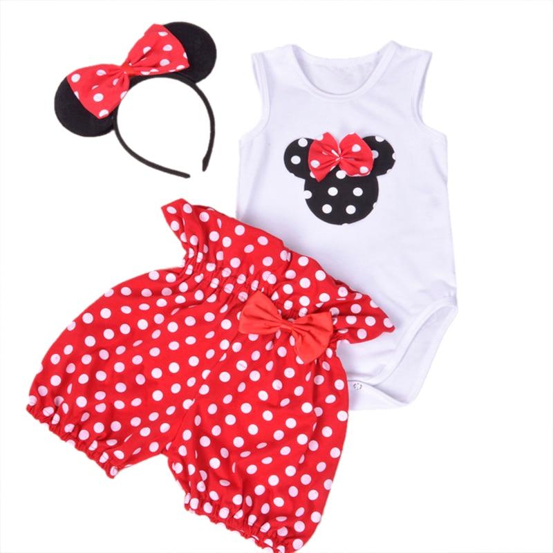 Brand Baby Romper Set Dillad Merch Babi Llawes Fer Gwisg Babi Haf + Blodau + + Band Pen 3pcs Conjuntos Infantis Menina