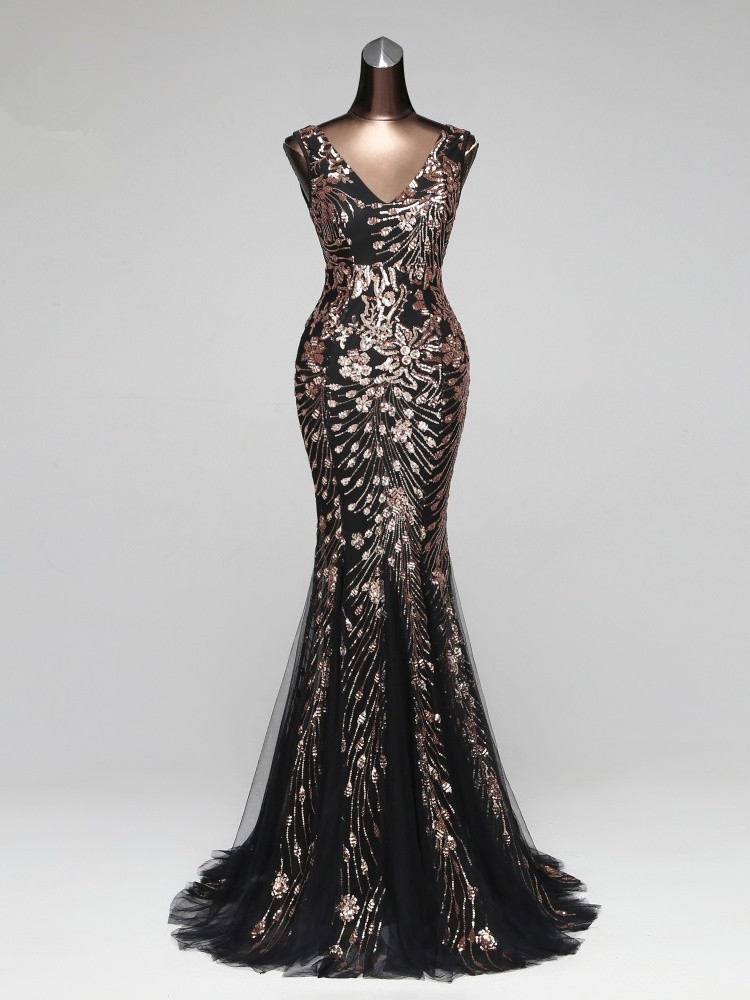 Prom-Gowns Party-Dress Mermaid Vestido-De-Festa Poems Songs Formal Elegant Vintage Robe