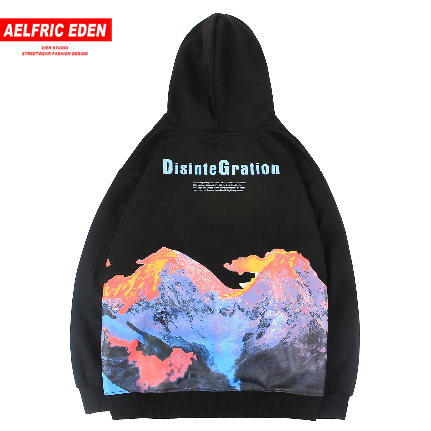 Aelfric Eden Mountain Printed Thick Men Hoodie 2019 Harajuku Streetwear Casual Cotton Pullover Fashion Hip Hop Hooded Sweatshirt