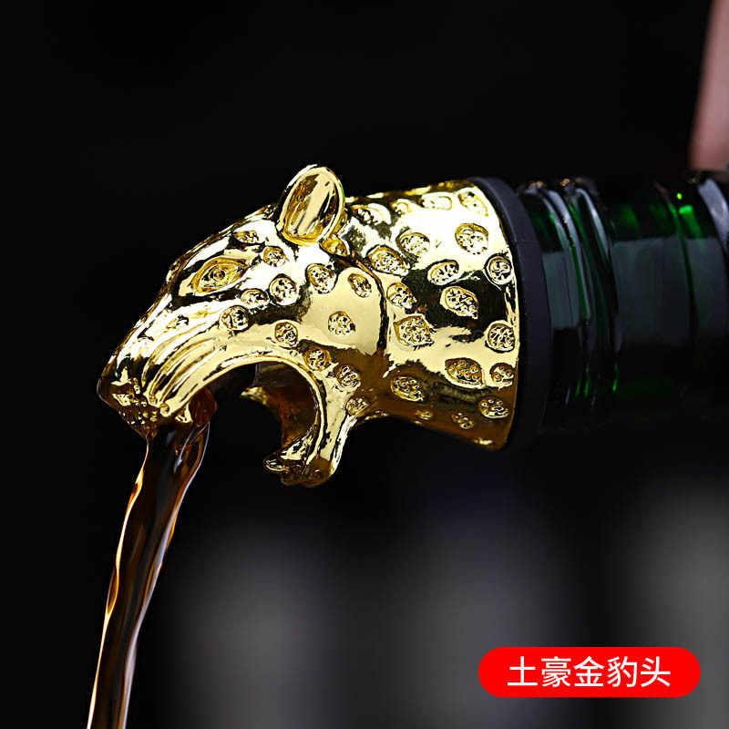 Baru Stainless Steel Rusa Kepala Rusa Anggur Pourer Unik Cocktail Minyak Zaitun Botol Anggur Sumbat Anggur Aerator Bar Tools