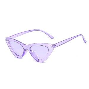 2020 Cute Sexy Retro Cat Eye Sunglasses Women Small Black Transparent Pink Triangle Vintage Cheap Sun Glasses Red Female Uv400