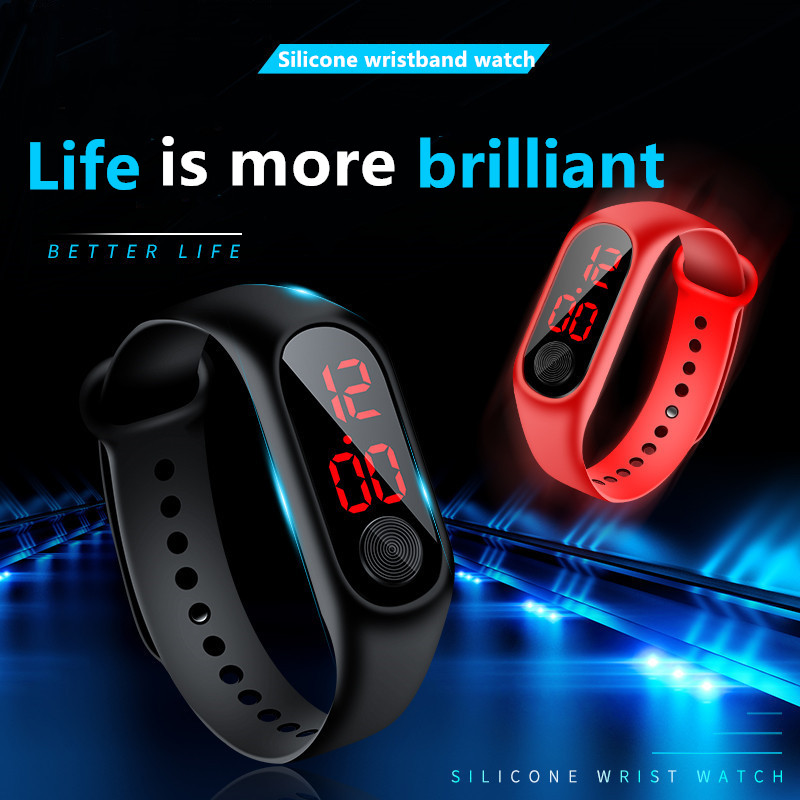 NEW Waterproof LED Electronic Watch Children's Sports Wrist Watch Simple Kids Watches Stylish Watch for Kids' Presents Best Gift