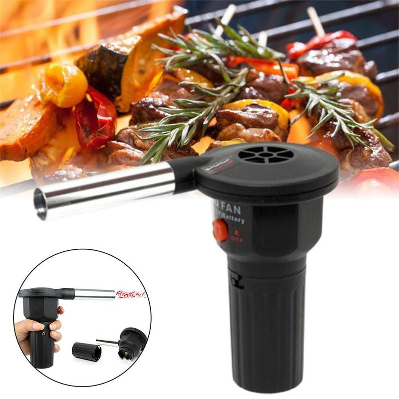1pc Blower Barbecue Hair Dryer Electric Blower Portable Home BBQ Outdoor Cooking Air Blower Camping Picnic Barbecue Hair Dryer