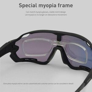 Image 5 - Okulary rowerowe męskie okulary rowerowe Polaroid fotochromowe 5 soczewki gogle damskie MTB Sun Bike sportowe akcesoria wędkarskie