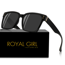 Royal Girl Women Sunglasses Polarized 2019 Fashion Square Nail TR90 Frame Unisex Glasses Classic Flat Coating Oversized ss544