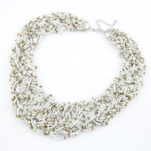 Special Offer European and American fashion pure handmade Bohemian style rice beads temperament short necklace