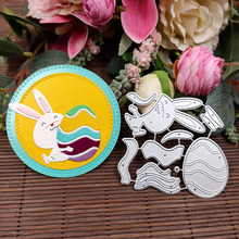 Cutting-Dies Stamp Paper-Card Scrapbooking Embossing-Decoration Rabbit-Bunny-Eggs-Stencil